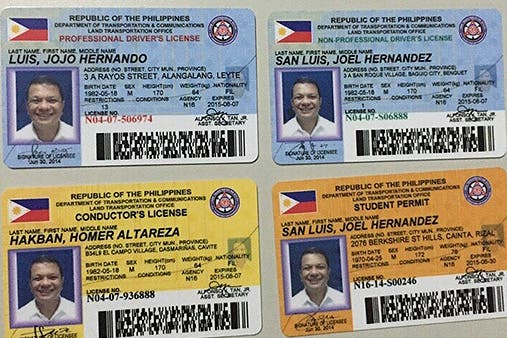LTO Releases New Designs of Driver's License Cards