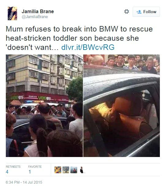 Mom refuses to rescue son BMW