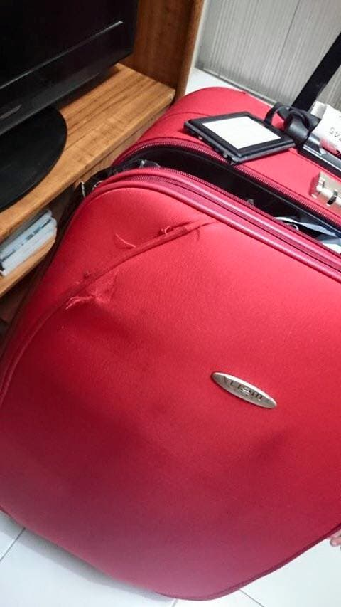 NAIA bag forced open 2