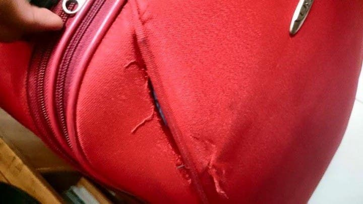 NAIA bag forced open 3