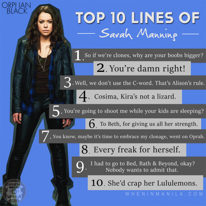 Top 10 Lines from the Clones of Orphan Black (1)