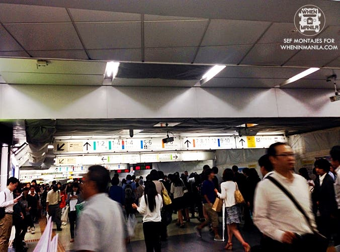 Shinjuku Station, one of the busiest train stations in the world!