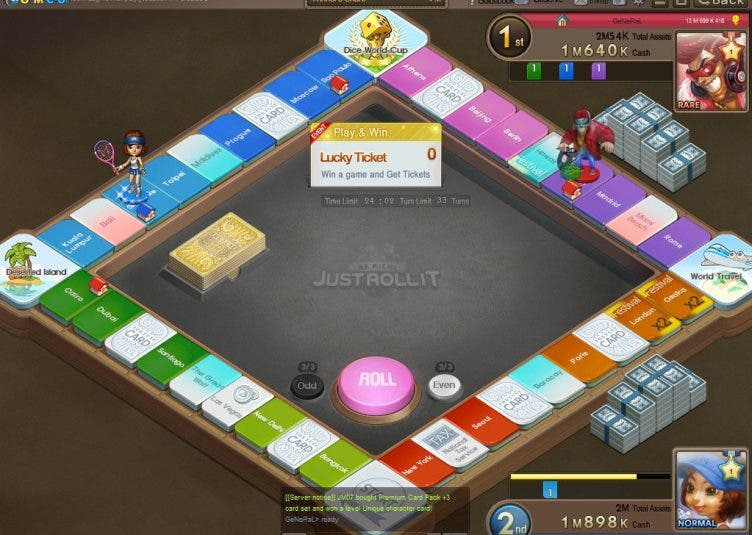 Just Roll It: Not Your Ordinary Board Game. Earn Real Money From It!