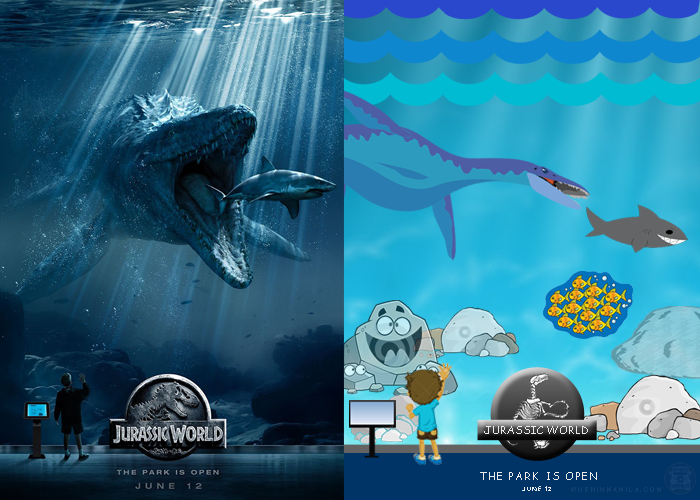 10 famous movie posters recreated with comic sans and clip art