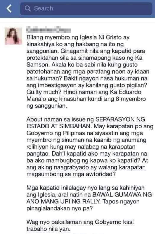INC Member Speaks Out on the Current Iglesia Ni Cristo Issue