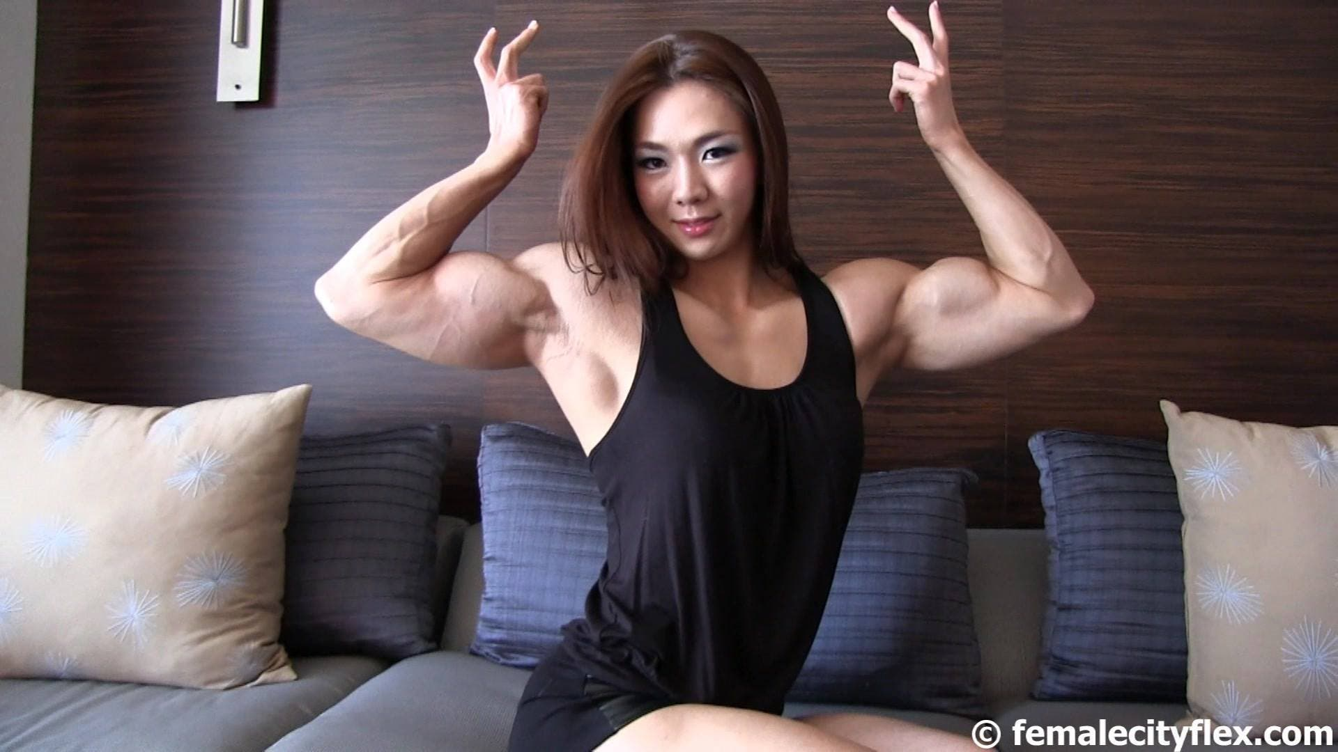 asian women body builders