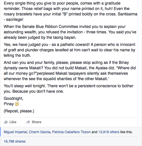 Open letter to binay2