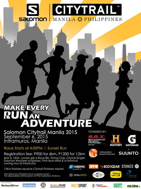 Salomon Citytrail 2015-Enjoy a Sunset Run Around Intramuros