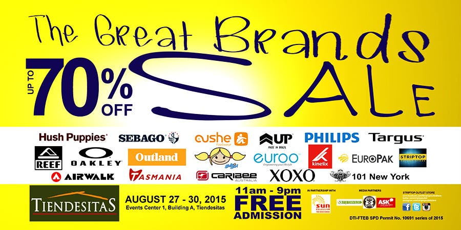 The Great Brands Sale Poster