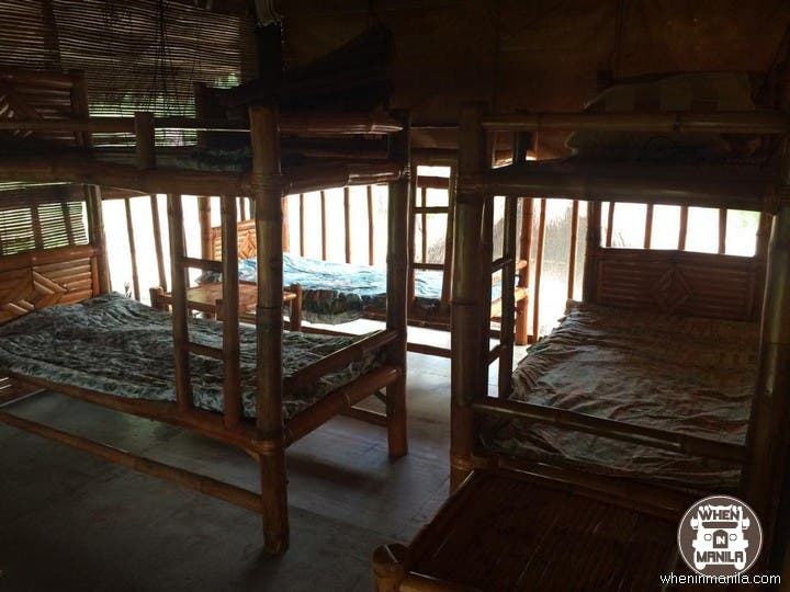 Beds cost P400 per night inclusive of the mosquito net