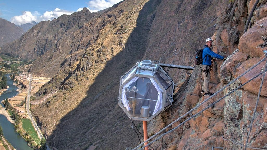The Scariest Hotel in the World – Skylodge Adventure Suites, Peru!