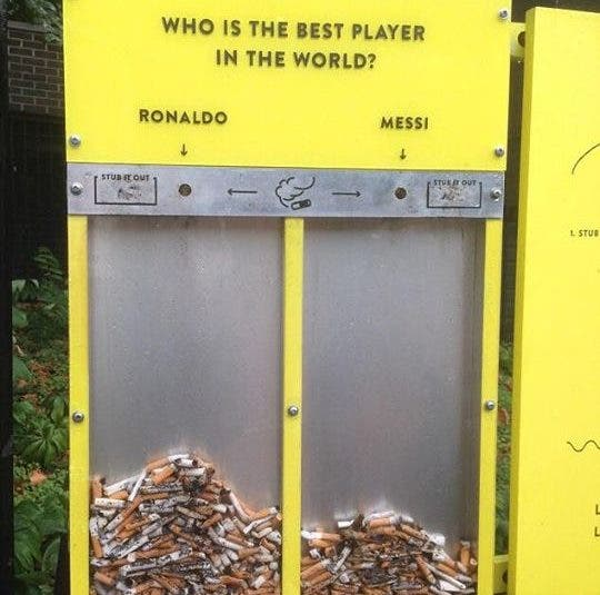 Creative Sports Voting Boxes to Stop Littering in the UK
