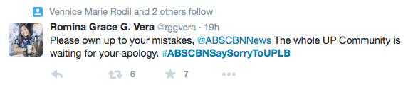 ABS-CBN sorry to UPLB twitter 2
