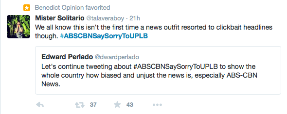 ABS-CBN sorry to UPLB twitter 3
