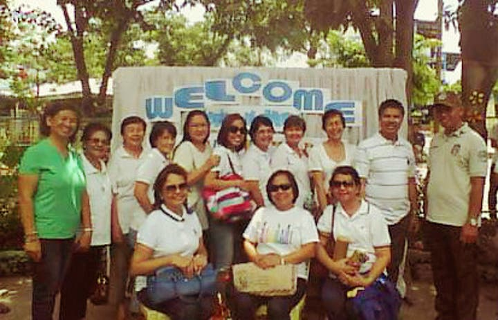 The Anawim Pondering Group with SCYO's Officer in Charge Mrs. Carmencita Bravo. Photo courtesy of the SCYO.