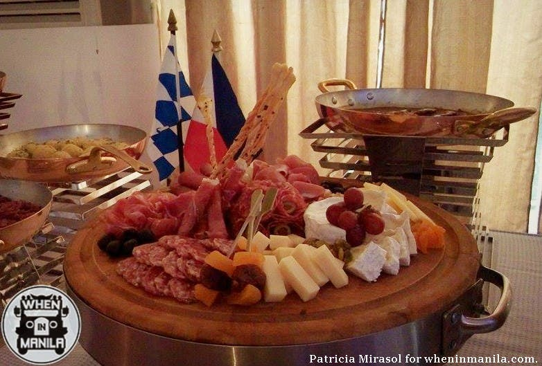 Assorted cold cuts and cheeses at Sofitel's 2015 Oktoberfest press launch.