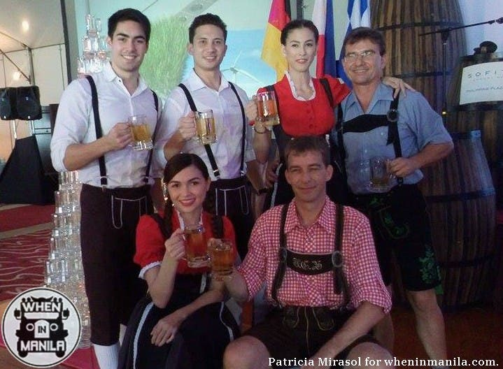 Germans in their traditional costumes at Sofitel's 2015 Oktoberfest press launch.