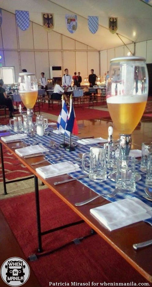 The table setup at Sofitel's 2015 Oktoberfest press launch.