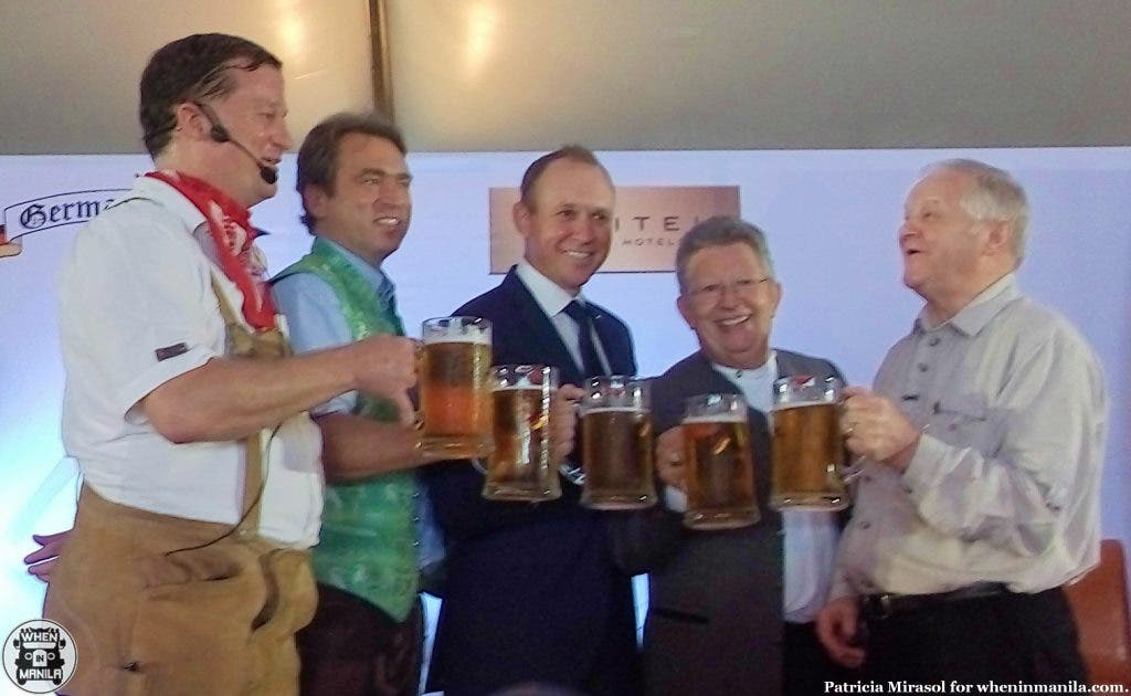 With the German ambassador and German Club Manila's president at Sofitel's 2015 Oktoberfest press launch.