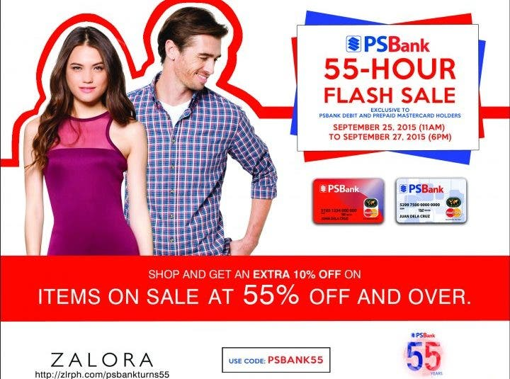 PSBank's 55-Hour Flash Sale on Zalora