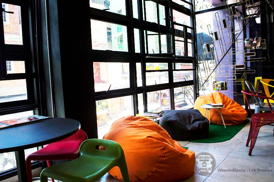 junction hostel lobby with couch