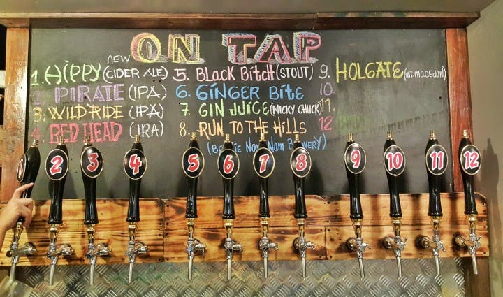 Craft Beers from Tap Station, Malate