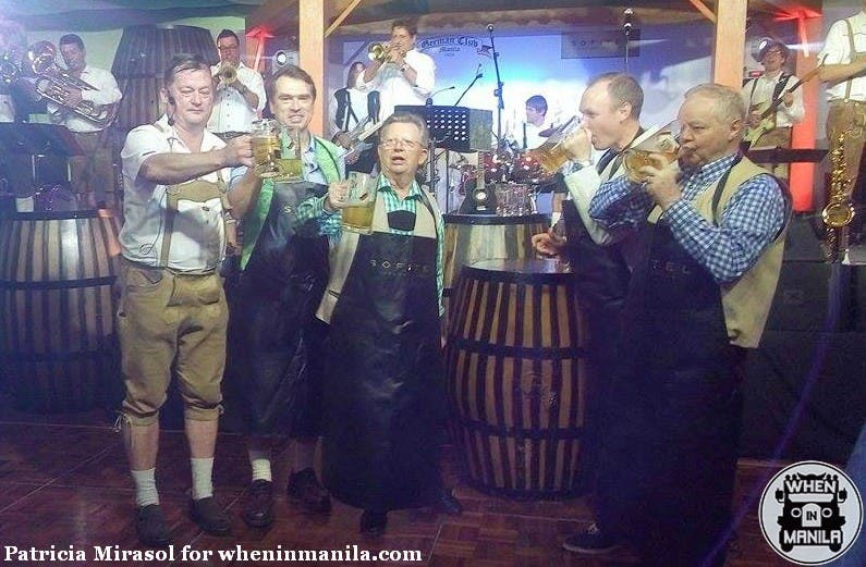 Shortly after the tapping of the keg at the 77th Oktoberfest at Sofitel.