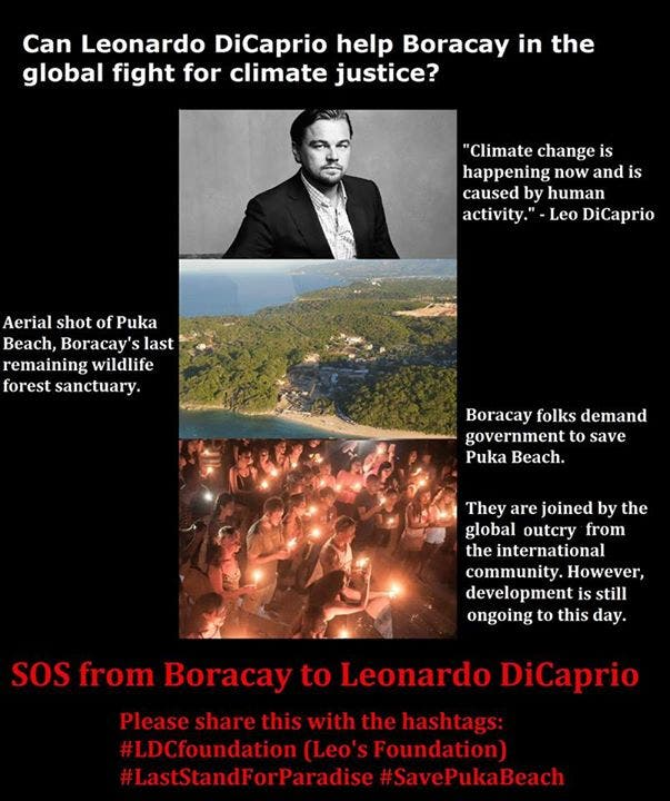 People Of Boracay Need YOUR Help In Reaching Leo DiCaprio To Save Boracay