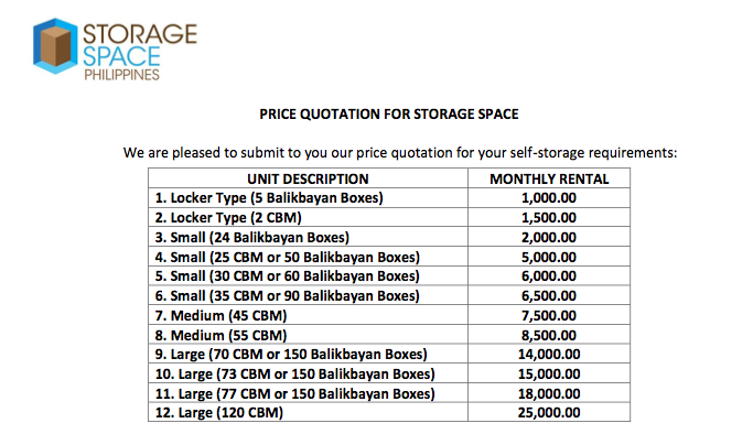 Storage Space Manila: Units for Rent for Your Storage Needs