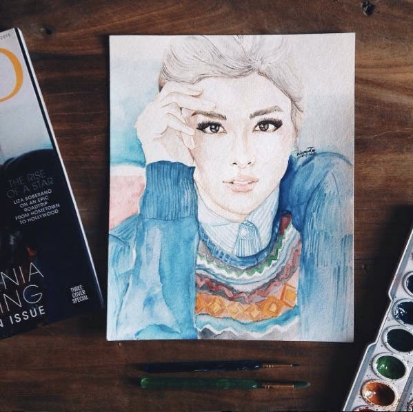 instagram mspainteilyn liza soberano art watercolor