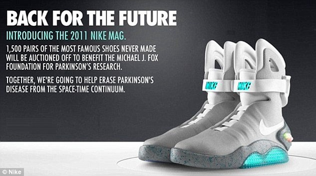 check out d8117 b6039 Back To The Future Self Lacing 2015 Nike Mag Is Real  Theyre