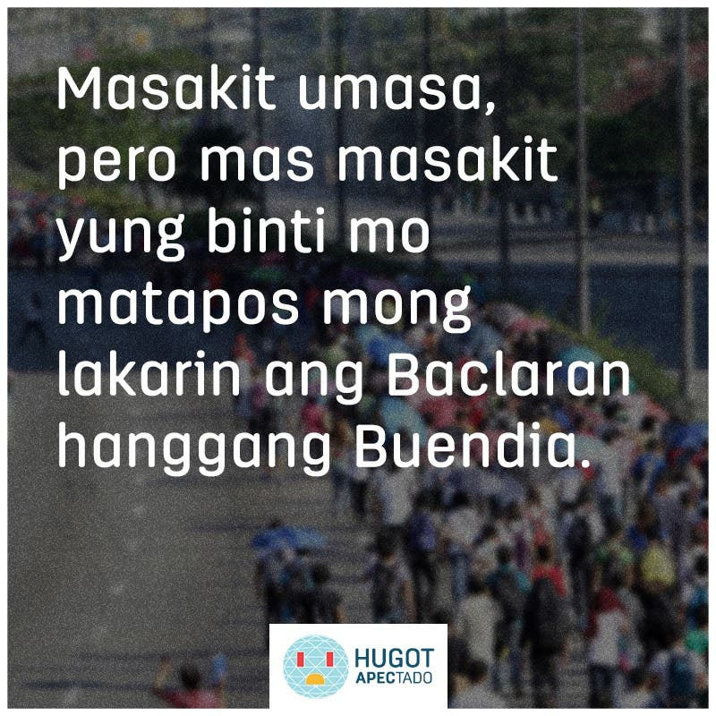 #HugotAPECtado: 6 Funny Hugot Lines About Traffic Caused by APEC