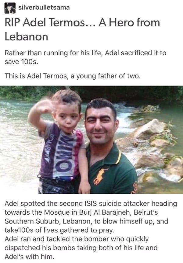 Adel Termos Beirut jumps suicide bomber (1)
