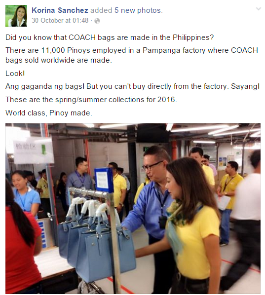 Coach Bags Made in the Philippines