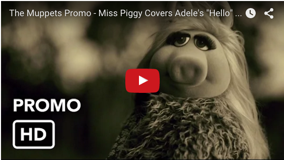 Miss Piggy The Muppets Adele Hello music video