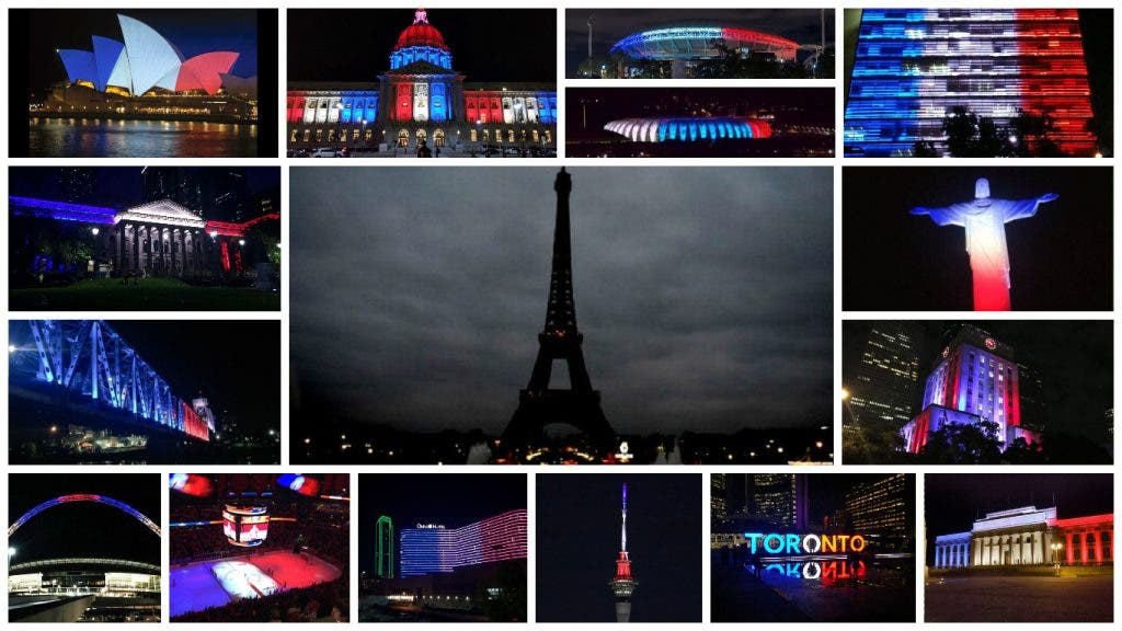 World Turns On Lights for Paris