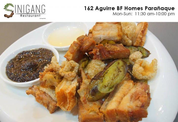 bagnet talong at bagoong sinigang