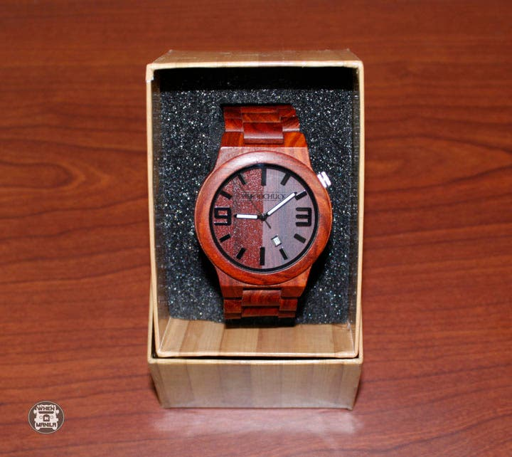 woodchuck red sandalwood watch