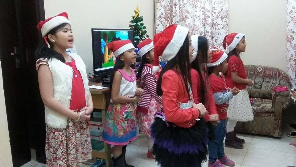Christmas Caroling Costume.Continuing The Beloved Tradition Filipino Children Go