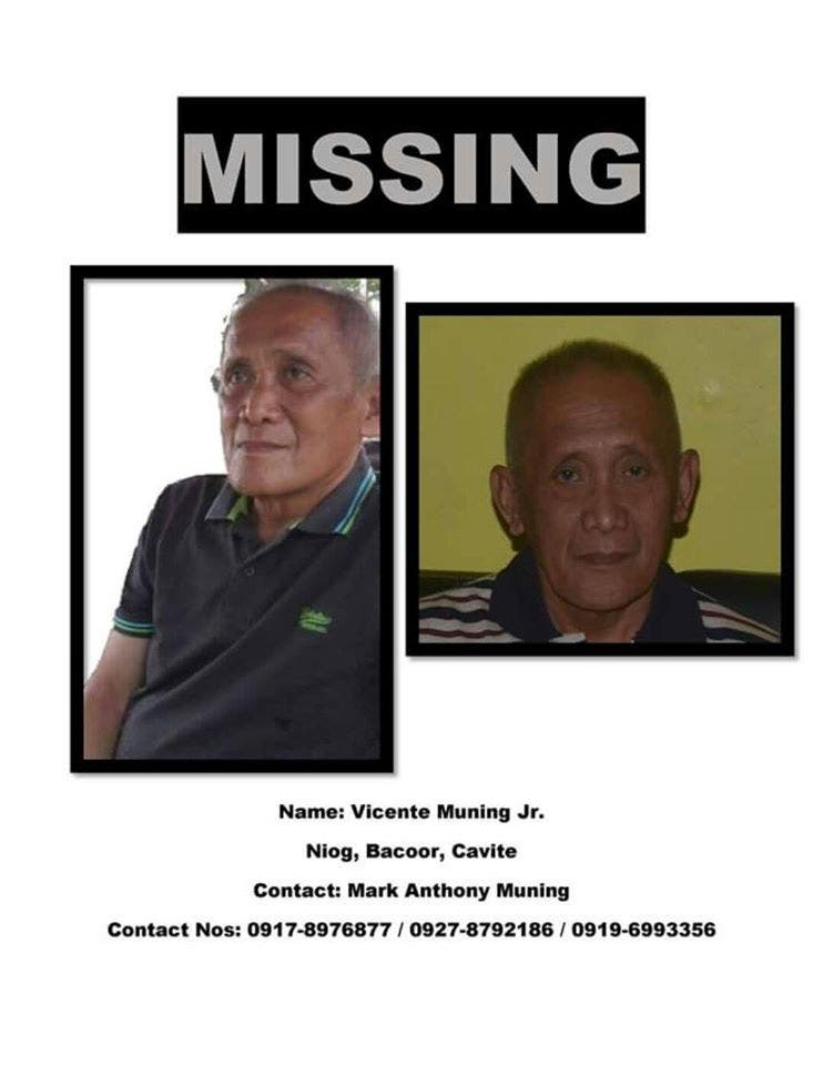 HELP Netizen Seeks Assistance in Looking For Missing Father