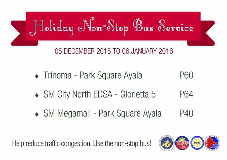 LOOK MMDA Shares Holiday Non-Stop Bus Service Schedule 6