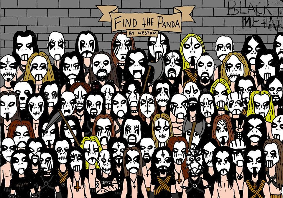 LOOK There's a New Find the Panda Challenge... Black Metal Style