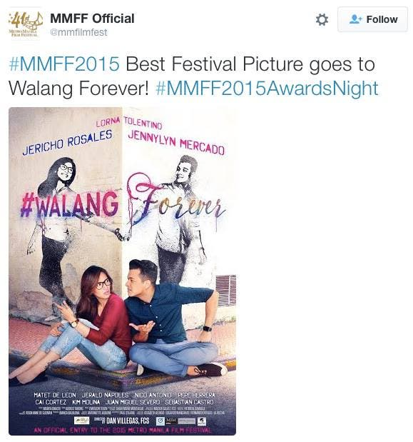 Walang Forever MMFF 1