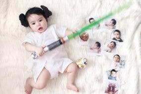andi manzano baby princess leia costume star wars 2