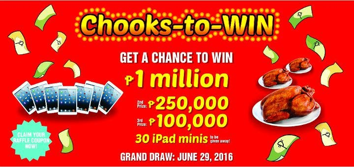 Chooks-to-Go Chooks-to-WIN Raffle Promo 1 Million Pesos