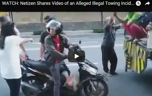 Netizen Shares Video of an Alleged Illegal Towing Incident in BGC 2