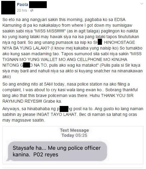 Police Texts Stay Safe - blur