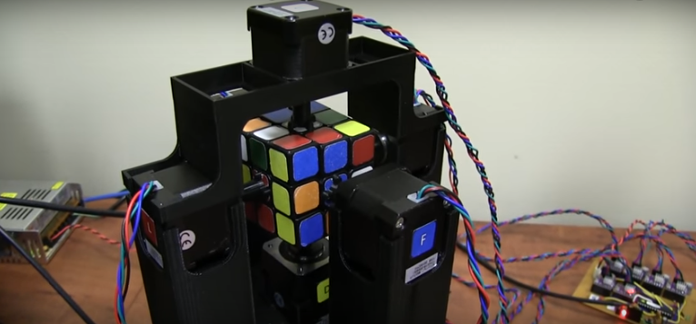 WATCH Machine Solves Rubik's Cube in Over One Second