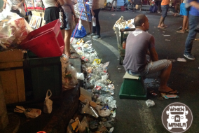Trash on Manila streets