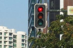 BGC Turned their Red Traffic Lights to Hearts for Valentine's